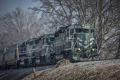 Evansville Photograph - March 11. 2015 - Evansville Western Railway At Mount Vernon Indiana by Jim Pearson