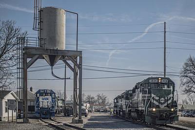 Evansville Photograph - March 11. 2015 - Evansville Western Railway Engine 3836 by Jim Pearson