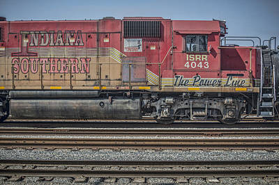 Southern Indiana Photograph - March 11. 2015 - Indiana Southern Railway Engine 4043 by Jim Pearson