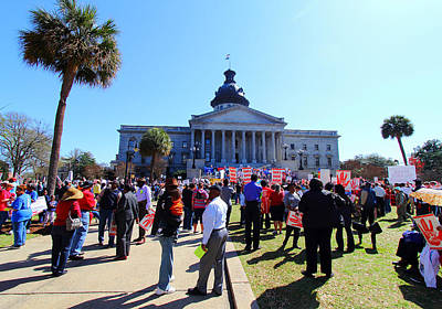 Photograph - March 2012 Rally At The State House  by Joseph C Hinson Photography