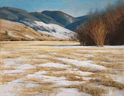 Painting - March Fields by Gary Huber