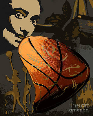 Sports Royalty-Free and Rights-Managed Images - March Madness - Thats What Sal Had - text-free version by Alisa Bogodarova