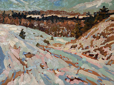 Snow Melt Painting - March Melt by Phil Chadwick