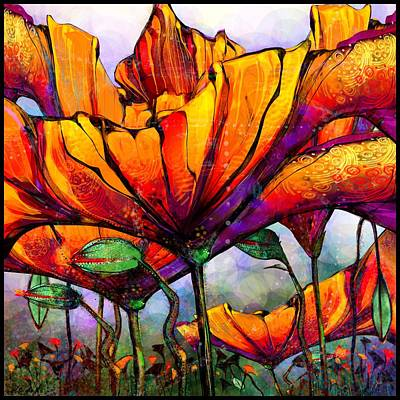 March Of The Poppies Art Print