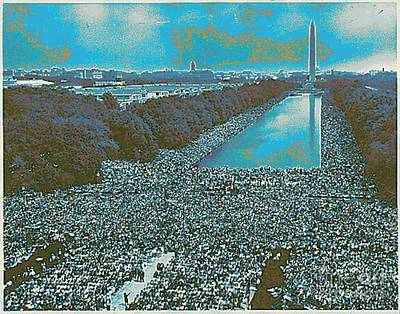 Digital Art - March On Washington 1963 by Steven  Pipella