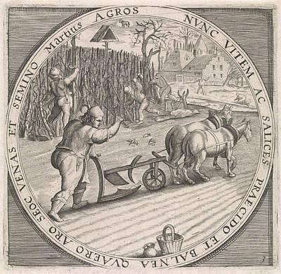 March Plowing, Anonymous, Crispijn Van De Passe Art Print