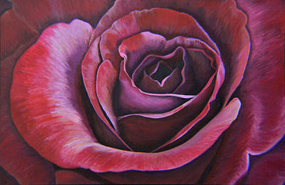 Print featuring the painting March Rose by Thu Nguyen