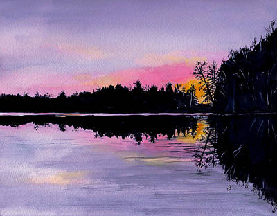 Painting - March Sunset In Maine by Brenda Owen