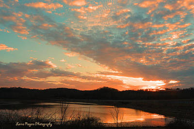 Art Print featuring the photograph March Sunset With Signature by Lorna Rogers Photography