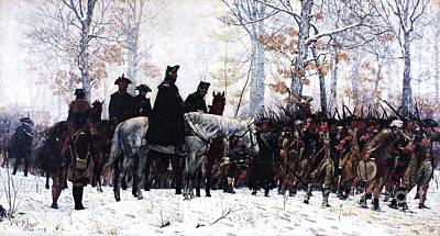 Reproduction Painting - March To Valley Forge  by Pg Reproductions