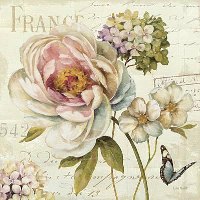 Peony Painting - Marche De Fleurs IIi by Lisa Audit