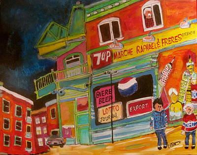 Old Neighbourhood Painting - Marche Raphael #2 by Michael Litvack