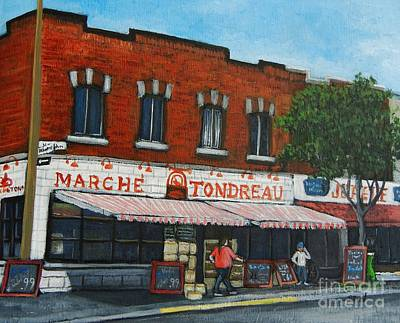 City Of Montreal Painting - Marche Tondreau Verdun by Reb Frost