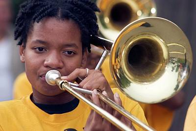 Trombone Photograph - Marching Band by Jim West