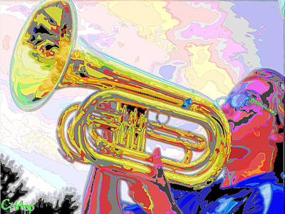 Marching Band Photograph - Marching Euphonium II by C H Apperson
