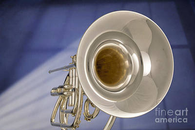 Photograph - Marching French Horn Antique Classic In Color 3425.02 by M K  Miller