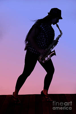 Saxophone Photograph - Marching Musician by M K  Miller