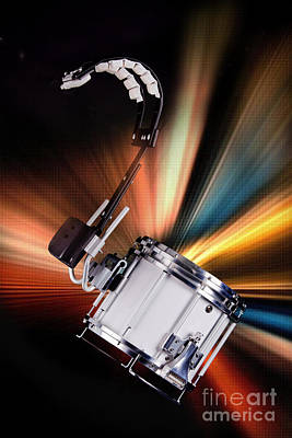 Photograph - Marching Snare Drum Music Photograph In Color 3327.02 by M K Miller