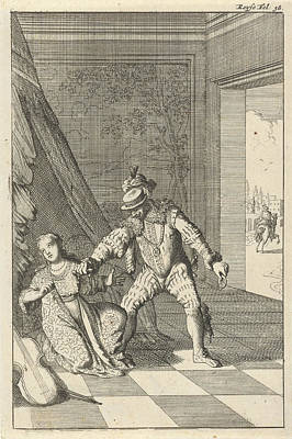 Marchioness Of The Barbarians Stabbed To Death Art Print by Caspar Luyken And Willem Broedelet