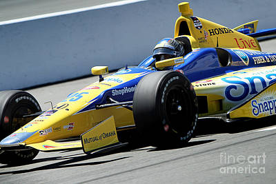 Marco Andretti Photograph - Marco Andretti Pit Lane by Bryan Maransky