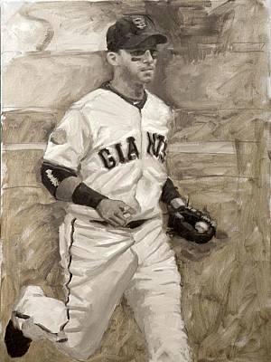 Baseball Painting - Marco Scutaro by Darren Kerr