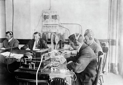 Marconi Wireless School Art Print by Library Of Congress