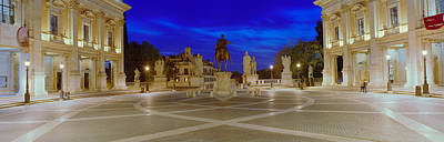 Marcus Aurelius Statue At A Town Art Print by Panoramic Images