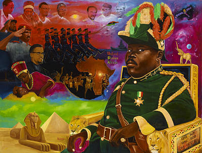 Sphinx Painting - Marcus Mosiah Garvey by Kolongi TheArtist