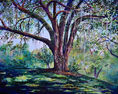 Oak Tree Painting - Marcus Oak by AnnaJo Vahle