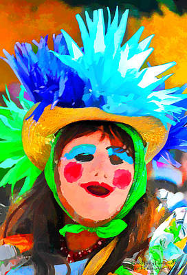 Painting - Mardi Gras In Mexico - Painting From A Photograph By Travel Photographer David Perry Lawrence by David Perry Lawrence
