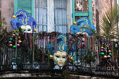 Photograph - Mardi Gras Balcony by John Rizzuto