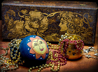 Photograph - Mardi Gras Bead Magic by John Brink