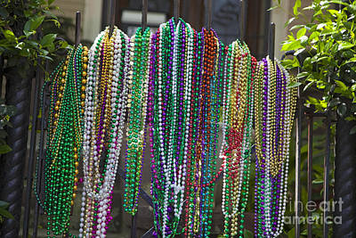 Photograph - Mardi Gras Beads by Jim West