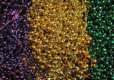 Photograph - Mardi Gras Beads - New Orleans La by Deborah Lacoste