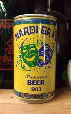Photograph - Mardi Gras Beer 1983 by Deborah Lacoste