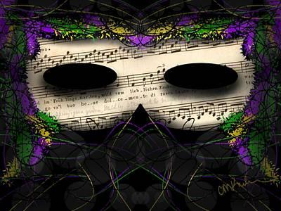 Christina Digital Art - Mardi Gras by Christina Kulzer