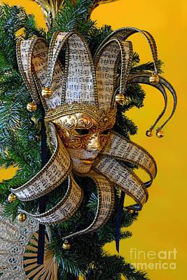 Mardi Gras Christmas In Gold Art Print