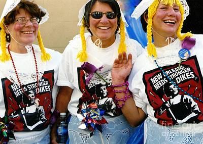 Photograph - Mardi Gras Costumes Post Hurricane Katrina by Michael Hoard