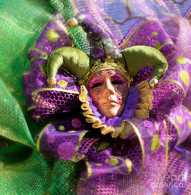 Photograph - Mardi Gras Decoration by Jerry Fornarotto