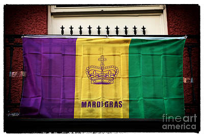 New Orleans Photograph - Mardi Gras Flag by John Rizzuto