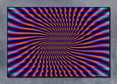 Digital Art - Mardi Gras Flag by WB Johnston