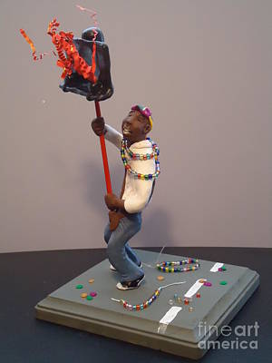 Sculpture - Mardi Gras Flambeau by Katie Spicuzza