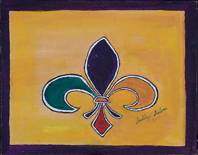 Painting - Mardi Gras Fleur De Lis by Swabby Soileau