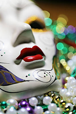 Black Light Paint Photograph - Mardi Gras II by Trish Mistric