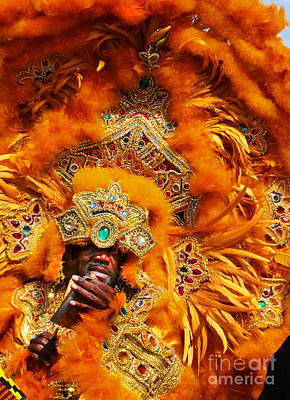 Mardi Gras Indian Orange Art Print