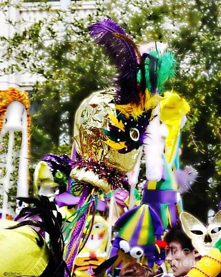 Digital Art - Mardi Gras Jester by Lizi Beard-Ward