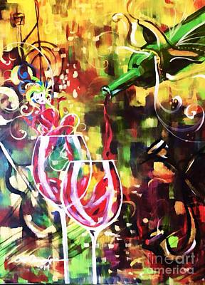 Mardi Gras Painting - Mardi Gras by Lisa Owen-Lynch