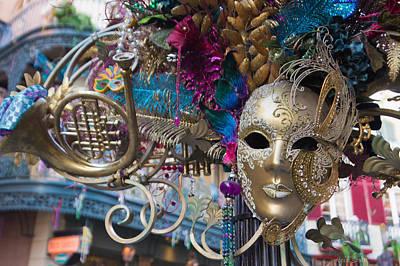 Photograph - Mardi Gras Mask by Heidi Smith