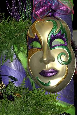 Photograph - Mardi Gras Mask by Living Color Photography Lorraine Lynch