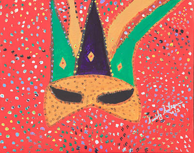 Painting - Mardi Gras Mask by Swabby Soileau